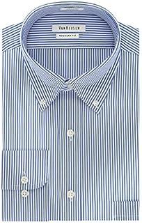 Van Heusen Men's Pinpoint Regular Fit Stripe Button Down...