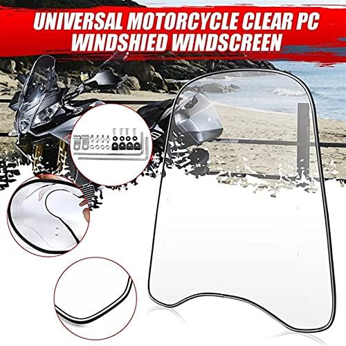 Parabrisas De Motocicleta Deflector De Parabrisas Transparente Fit for Motocicleta Universal De 2 Mm De Espesor, Parabrisas Transparente, Carenado De Parabrisas Delantero Parabrisas De Motocicleta