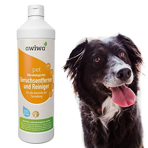 awiwa Geruchsneutralisierer für Hund und Katze & Katzenurin Flecken-Entferner (1 Liter)