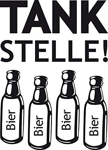 GRAZDesign Kühlschrank Aufkleber Sticker, Wandtattoo Kühlschrank Deko Folie Tankstelle Bier, Wandsticker Küche selbstklebend Bierflaschen / 42x30cm