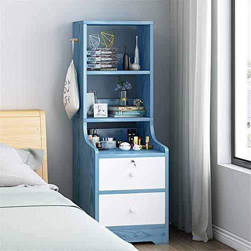 Mesitas de noche con cajones, mesita de noche, mesa de trabajo, cajón de almacenamiento, para dormitorio, pasillo o entrada (color: D, tamaño: 40 x 34 x 117,5 cm)