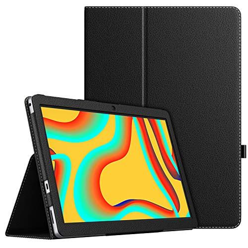 MoKo Hulle Kompatibel mit Vankyo MatrixPad S30 Tablet Kunstleder Stander Schutzhulle Tasche Cover mit Stift Schleife Standfunktion Schwarz