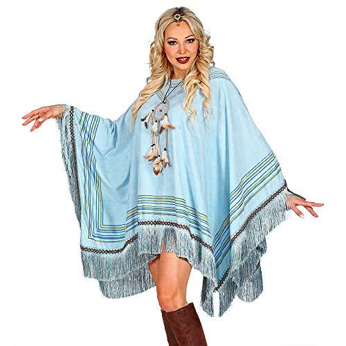 WOOOOZY Poncho Hippie Deluxe, hellblau