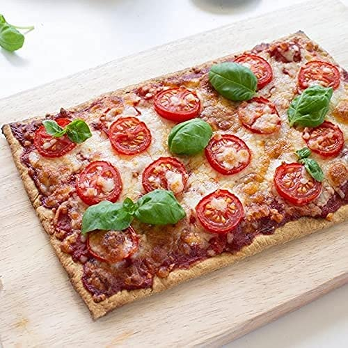 Base Pizza Low Carb Keto Chetogenica Confezione di 2 Basi Per Pizza Proteica Pochi Carboidrati (2 x 100g) - 25 x 16 Cm.