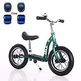 baobe Bicicleta de Equilibrio para niños, sin Pedal, Bicicleta Infantil con Marco de Acero al Carbono, manubrio Ajustable y Asiento de 12 Pulgadas para niños de 2 a 6 años de Edad