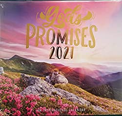 2021 god's promise wall calendar sunset and mountains
