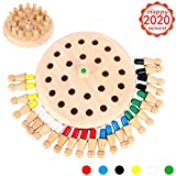 Jeu de Memory Match Stick en bois - Jeu d'échecs logique et casse-tête pour garçons et filles de 3 ans et plus - Memory Stick Éducatif Famille Early Color Matching - Thème amusant et œuvre hilarante
