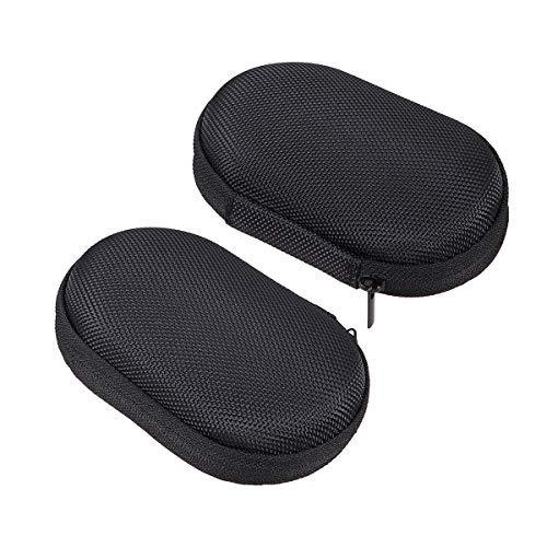 2 PCS Oximeter Case Multiuso ponta dos dedos r¨ªgidos Ox¨ªmetro de pulso bolsa de armazenamento com z¨ªper
