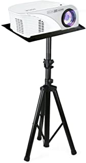 """Pyle Pro DJ Laptop Stand, Projector Stand, Adjustable Laptop Stand, Laptop Stand,  Multifunction Stand, Adjustable Tripod Laptop Projector Stand, 30"""" to 55"""", Good For Stage or Studio (PLPTS7)"""