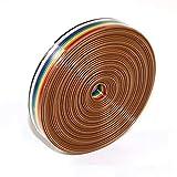 TOCYORIC Cable Plano IDC, Ribbon Cable 1.27mm Rainbow Color Flat Cable para Conectores, IDC Cable de Alambre de la Cinta (10Wire/6M)