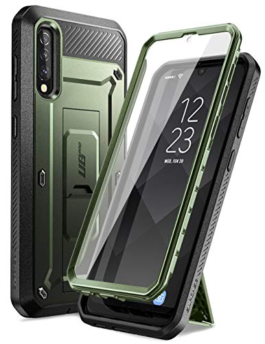 """SUPCASE Handyhülle für Samsung Galaxy A50 / A30s (6,4"""") Hülle 360 Grad Case Outdoor Schutzhülle Bumper Cover [Unicorn Beetle Pro] mit Integriertem Displayschutz, Gürtelclip und Ständer (Grün)"""
