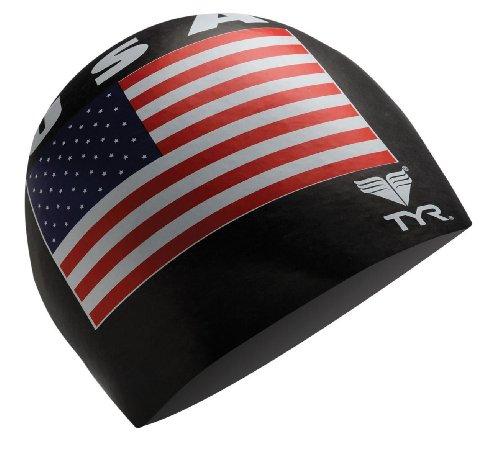 TYR USA Latex cap, Unisex, LCPU2-001, Nero, Taglia Unica