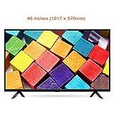WTTO 46 Pouces TV Protecteur d'écran, Anti Lumière Bleue Filtrer Anti-ÉBlouissement Téléviseur Protège-écran Protection des Yeux Convient aux écrans LCD/OLED/HDTV/Moniteurs,Ultra-Clear