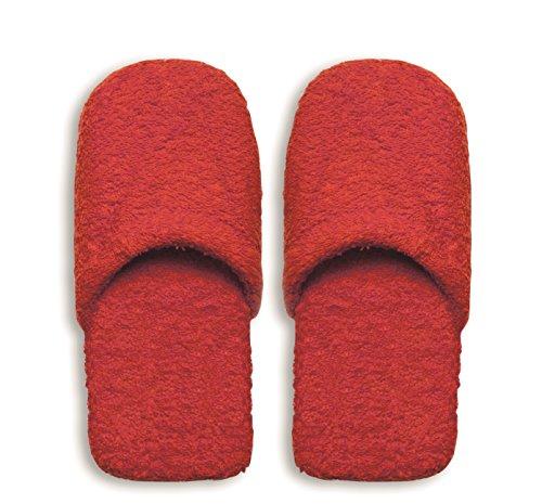 Excelsa Bagno Caldo Pantofole Da Uomo, Spugna, Rosso, 29x12x5 cm