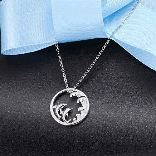 NC520 Dolphin Lovers Collares Pendientes para Mujer Joyería Fina para el Día de San Valentín Regalo romántico