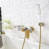 Grifo mezclador para bañera/bañera/ducha Grifos de baño para baño con grifos para ducha Mezcladores para ducha de pared Grifo para bañera Grifo para baño Mezclador-Chrome-B