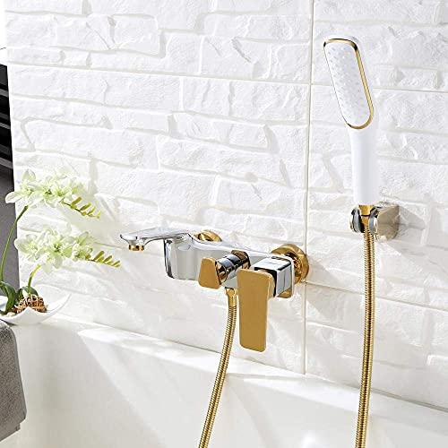 AZDS Grifo Monomando de baño con Accesorio para Ducha Grifos de baño con Accesorio para Ducha Mezcladores Pico de llenado Esenciales para el hogar