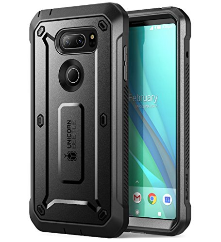LG V30 Case, SUPCASE Full-body Rugged Holster Case with Built-in Screen Protector for LG V30, LG V30s,LG V30 Plus,LG V35,LG V35 ThinQ 2017 Release, Unicorn Beetle Pro Series (Black/Black)