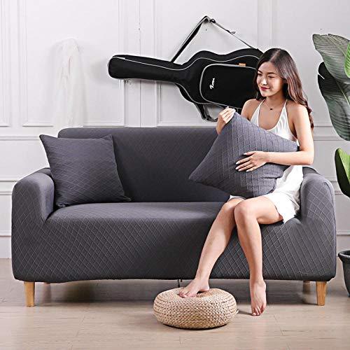 Fundas de Sofá 2 plazas y 4 plazas, Protector de sofá Grueso, Fundas de sofá Impresas sólidas para salón, Funda de sofá, Funda de Esquina para sofá en Forma de L, 2 PCS