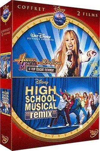 Coffret hannah montana concert ; high school musical remix