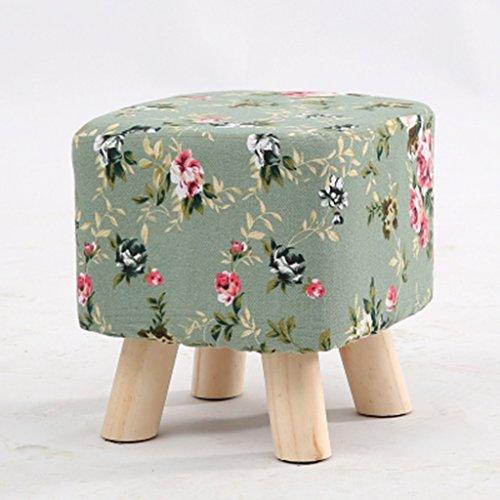 Salon tabouret de canapé bois massif tabouret de la famille petit tabouret 27 * 27 * 28cm (Color : Green)
