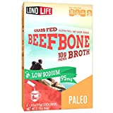 LonoLife Low-Sodium Grass-Fed Beef Bone Broth Powder with 10g Protein, Paleo and Keto Friendly, Stick Packs, 24 Count