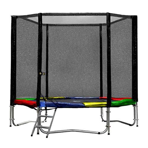 Baunsal GmbH & Co.KG Gartentrampolin Trampolin 244 bis 250 cm in Multicolor mit Sicherheitsnetz und Einstiegsleiter