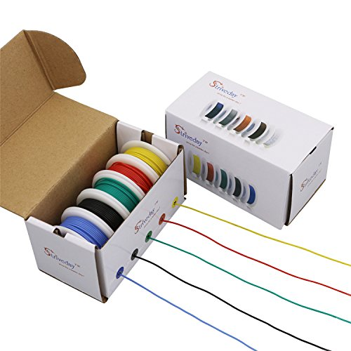 Striveday™ 30 AWG Flexible Silicone Wire Electric wire 30 gauge Coper Hook Up Wire 300V Cables electronic stranded wire cable electrics DIY BOX-1