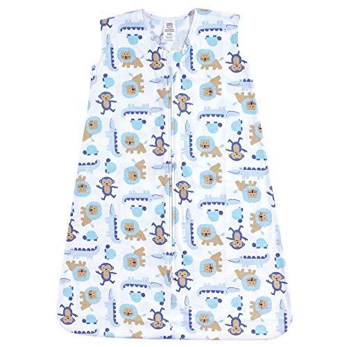 Luvable Friends Unisex Baby Sleeveless Jersey Cotton Sleeping Bag, Sack, Blanket, Boy Jungle Jersey, 6-12 Months