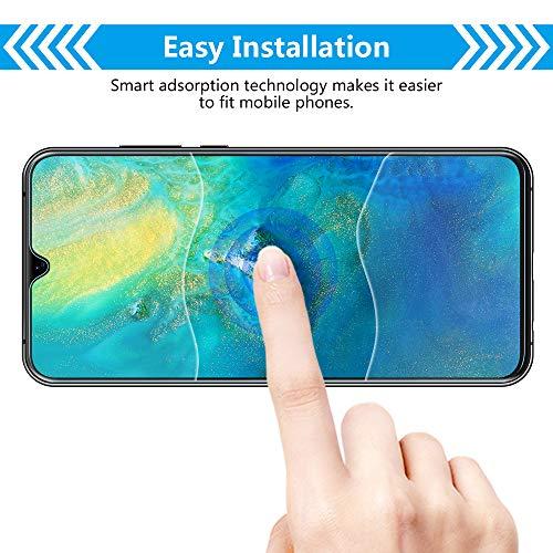 Bigmeda Schutzfolie für Huawei Mate 20, Blasenfrei, Anti-Kratzen, Anti-Öl, HD Klar Flexible Displayschutzfolie für Huawei Mate 20 Folie [3 Stück] - 4
