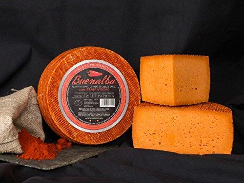 Queso Naranja de Cabra y Oveja al Pimentón de La Vera - Producción Artesana - Pieza 1 Kg
