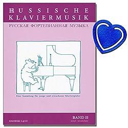 Partitions de piano russe volume 2 - Une collection pour les jeunes et adultes - Partitions de piano avec pince à partitions en forme de cœur
