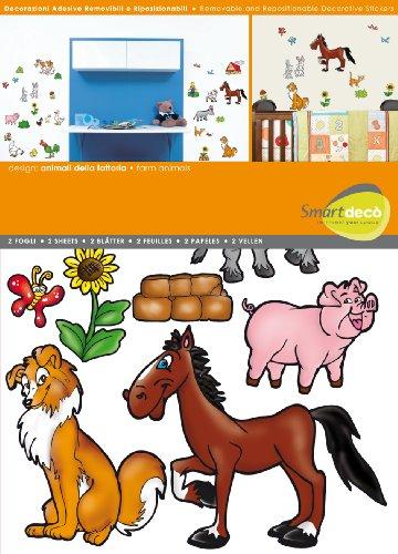 Smartdeco 31-delige muurtattoo, 1 stuks, boerderij