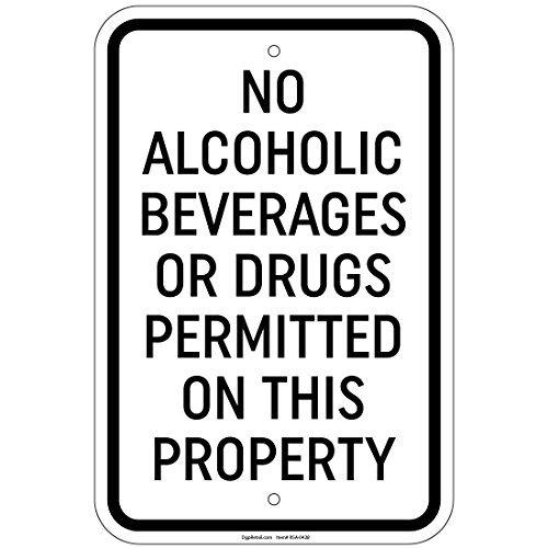 HSSS geen alcoholische dranken of drugs toegelaten 8x12 inch aluminium teken