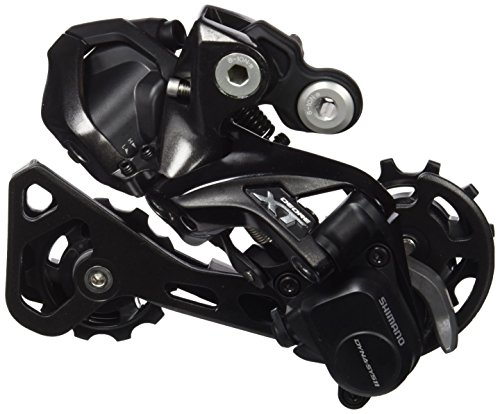 SHIMANO XT DI2 11V. Shadow+ GS Direct Cambio, Negro, Talla Única