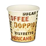 pack2go 1000 Premium Espressobecher - 4oz, 100ml, Kaffeebecher, Pappe, Coffee to go Becher Barista, Pappbecher, Becher to Go, Einwegbecher