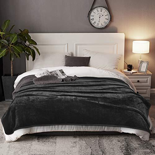 EIUE Lightweight Fleece Bed Blanket,Ultra Soft Throw Blankets for Sleeping