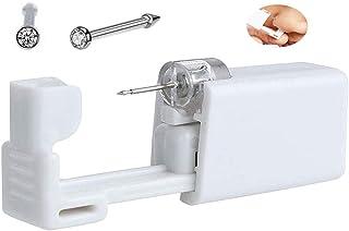 Self Nose Piercing Kit Disposable Sterile Ear Nose Piercing Kit Tool Stud Safety Portable Nose Piercing Kit (201# White Cr...