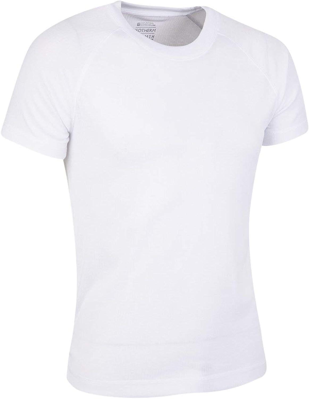 Mountain Warehouse T-Shirt Thermique Hommes Talus Chaud Manches Courtes Respirant col Rond s/échage Rapide Id/éal en Hiver