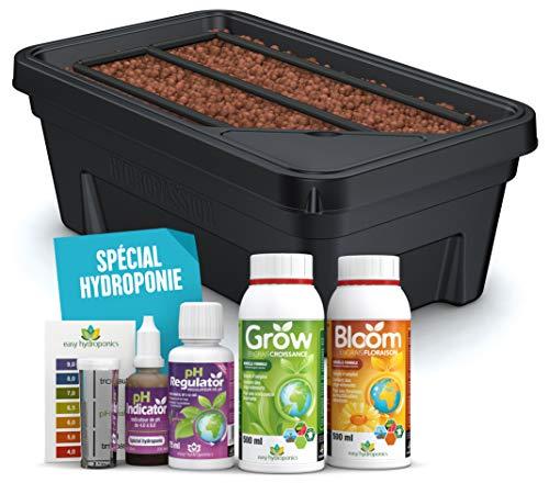 Easy Hydroponics - Mini Garden 600 - Kit complet pour la culture hydroponique 59 x 35 x 22 cm Noir