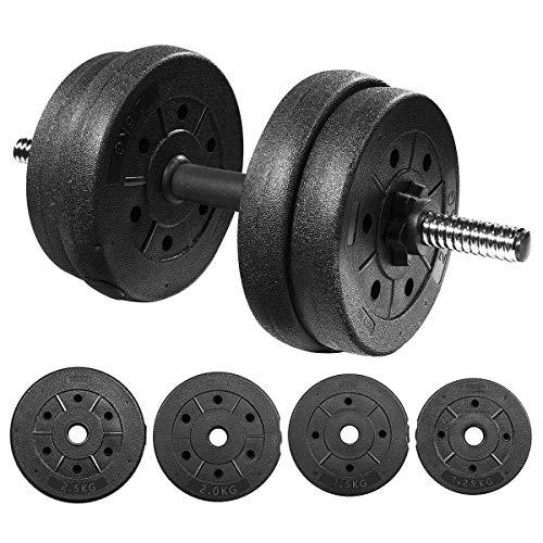 30kg Hantel-Set, PE Hantel, abnehmbare Hantel, Arm Muskeltrainer, im Freien Körpertraining und zu Hause ausüben