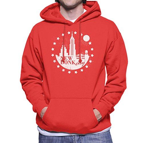 New Donk City Donkey Kong Men's Hooded Sweatshirt Red