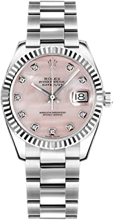 Rolex Lady Datejust 178274 Pink Dial w/Diamond Hour Markers 31mm Womens Watch