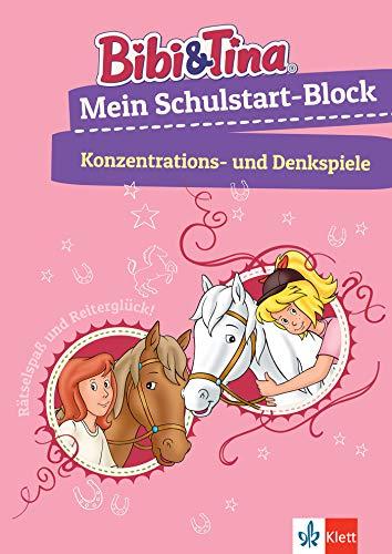 Bibi & Tina: Mein Schulstart-Block Konzentrations- und Denkspiele: Vorschule, ab 5 Jahren