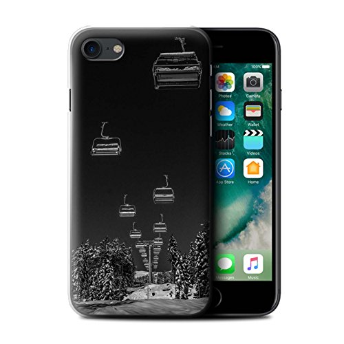 Stuff4 Hülle/Case für Apple iPhone 7 / Ski Aufzug Muster/Skifahren/Snowboard Kollektion