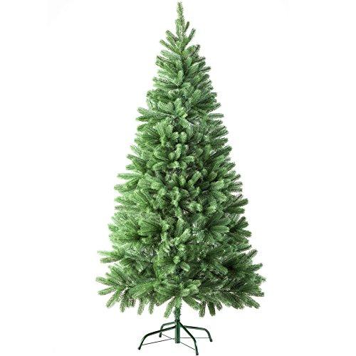 TecTake Albero di Natale Artificiale con Supporto | Aspetto Naturale - Disponibile in Diversi Colori e Misure - (180 cm | 742 Punte | Verde | No. 402823)