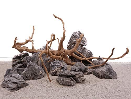 AquaOne Aquarium Natursteine Wurzel Mini Landschaft Moorkienwurzel Set W2 Gr.L Deko Aquascaping