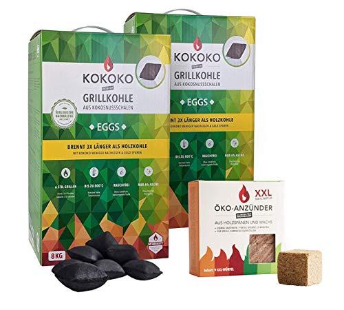 Set: KOKOKO EGGS Bio Kokos Grillbriketts...