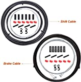 Bestgle - Kit de cable de freno y cable de cambio de velocidad 2 en 1 y kit de carcasa para bicicleta de carretera