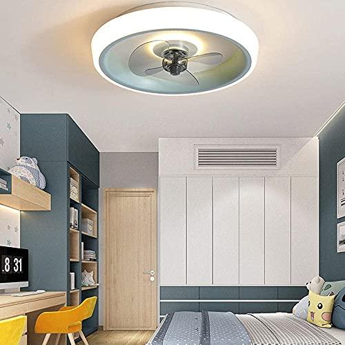 IOUYRRN Modernos ventiladores de techo con lámparas Luz de techo Luces de ventilador con control remoto Mute Ajustable 3-viento Velocidad de viento 3 Color Luz de techo regulable para sala de estar Do
